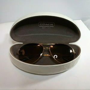 Accessories - COACH Jaclyn sunglasses Gold aviator